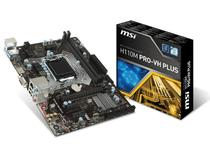 Placa Mae MSI INTEL H110M PRO-VH PLUS MATX DDR4 2133MHZ HDMI USB 3.1 LGA 1151