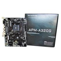Placa Mãe PCWARE AMD RYZEN APM-A320G Raid M-ATX AM4 -