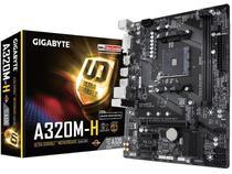 Placa Mae Socket AMD AM4 Gigabyte A320M H M-ATX DDR4 3200MHZ HDMI M.2 USB 3.1 -