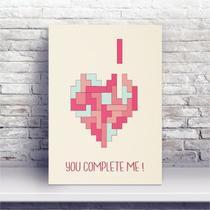 Placa MDF Você Me Completa Coração - Conspecto