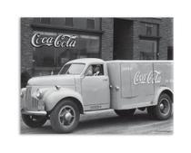 Placa metal coca-cola classic truck fd cinza 26x20x1 cm - Urban