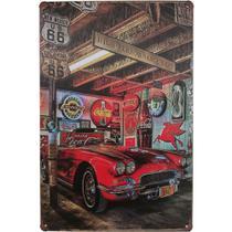Placa Metal Pintada Decorativa 20x30cm Retro Garage Coca Cola - Tenda