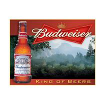 Placa Metálica Decorativa Budweiser King Of Beers - Rossi -