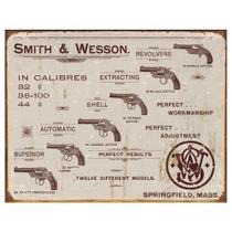 Placa Metálica Decorativa Smith  Wesson Revolvers Rossi