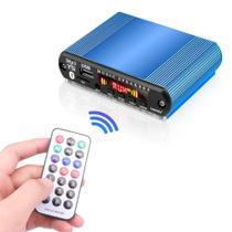 Placa Mp3 Bluetooth Fm Com Case De Alumínio Azul - Kebidu