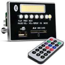 Placa MP3 Player Bluetooth G377 USB Cartão SD FM Decodificador Caixa Ativa com Controle Remoto - Prime