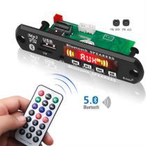 Placa Mp3 Player Usb Fm Amplificada 5v - 12v Bluetooth 5,0 - Brasil Home
