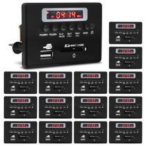 Placa para Amplificador Módulo G377 80 RMS Bluetooth USB SD FM 15 Unidades - Prime
