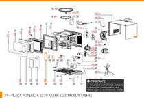 PLACA POTENCIA MEF41 -  127V MARR - 70001740 - Electrolux -