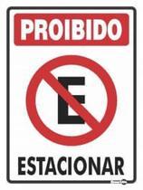 Placa - proibido estacionar  encartale -