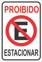 Placa Proibido Estacionar Garagem Placa de Sinalização 20x30 - Arte De Colar Adesivos