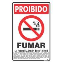 Placa proibido fumar lei federal encartale -
