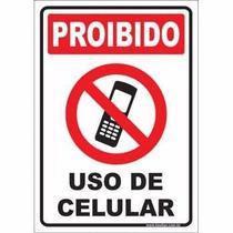 Placa Proibido O Uso De Celular Sinalizacao 30x20 - Franzuk