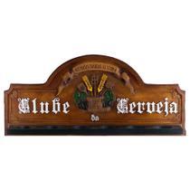 Placa Suporte Copos, Porta-Espetos - Clube da Cerveja - Karin Grace