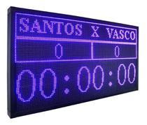 Placar Eletrônico Esportivo Futebol Salão E Cronometro Jogo 135cm x 72cm - Mundo De Led
