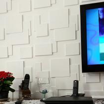 Placas 3D Para Parede Revestimento 3D Quadratto 50Cmx50Cm Luxo - Lu Jpdecoracoes