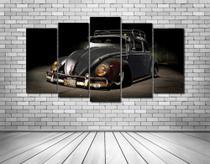 Placas Conjunto paineis Quadros mosaico decoração carro fusca retro - Neyrad
