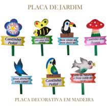 Placas Decorativas com Frases de Jardim - Retrofenna
