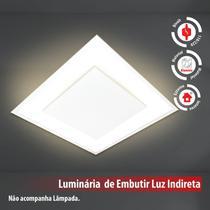 Plafon De Luz Indireta Embutir 45x45cm Para 4 Lâmpadas E27 Branco - Lcgeletro