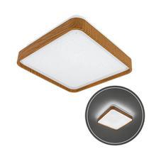 Plafon Led 12w Branco Frio Metal Acrílico Amadeirado 28cm St1937 - Opus