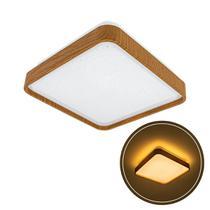 Plafon Led 12w Branco Quente Metal Acrílico Amadeirado 28cm St1937 - Opus