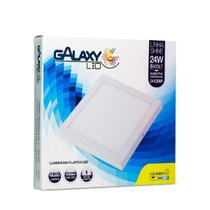 Plafon Led Galaxy Shine Quadrado 24W 3000K 30x30 Bivolt -