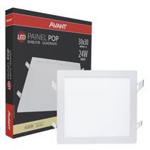 Plafon Led Quadrado 24w Painel Embutir Slim  Avant -