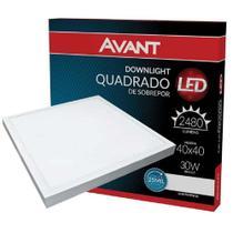 Plafon Led Quadrado Sobrepor 40X40 Painel 30W 6500K Avant -
