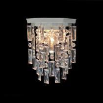 Plafon Luminária Lustre Cristal Acrílico Para Banheiro 17x25 - Lustres Sh Design