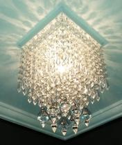 Plafon Lustre De Cristal Acrílico Quarto Escada Hall Luminária Decorar Sala Forro PVC Gesso - Dubai - Lustres SH Design
