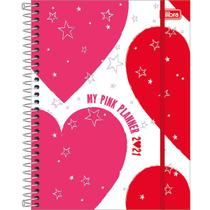 Planner mensal 2021 espiral 80 fls Love Pink M7 Tilibra -