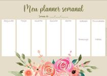 Planner Organizador Semanal de Mesa Floral Marche Un PM -