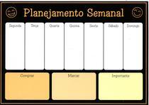 Planner Semanal Imã de Geladeira Com Calendário e Canetinha - Imporiente