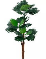 Planta Árvore Artificial Palmeira Leque Verde 1,77m - Florescer Decor