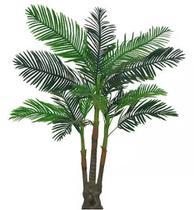 Planta Árvore Artificial Palmeira Real Toque Verde 2,08m - Florescer Decor