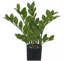 Planta Árvore Artificial Zamioculca Real Toque Verde 40cm - Florescer Decor
