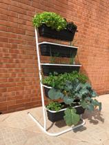 Plante em casa ou apartamento, Jardineira Floreira com 5 vasos de 60 cm Al-262 - Altmayer