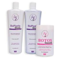 Plastica Capilar Hv Cosmetics 2x1000ml + Botox Hv Smooth 1kg