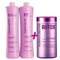 Plastica Dos Fios Kit Escova Progressiva + Botox Control 1 Kg -
