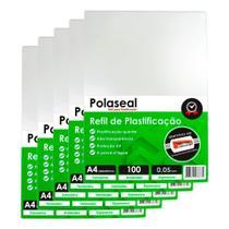 Plástico para plastificação A4 500un Polaseal  0,05 125mic - Marpax