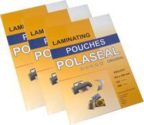 Plástico Para Plastificação Polaseal Tamanho A3 Espessura 0,05 303x426mm 125 Micron Pacote com 100 plásticos - Prolam