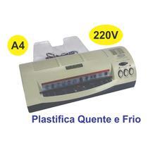 Plastificadora de Polaseal tam. A4 - Menno 2401 Plastifica Quente e Frio -