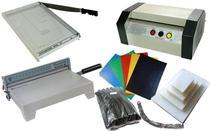 Plastificadora, encadernadora ,guilhotina e material  KIT completo - Goldmaq