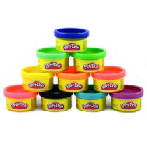 Play Doh 10 Mini Potes Coloridos - Hasbro - Play-doh