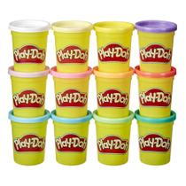 Play-Doh Cores de Primavera Kit com 12 Potes - Hasbro -