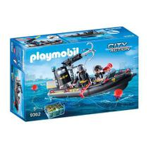 Playmobil 9362 Unidade Tatica Com Bote City Action Sunny -