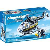 Playmobil Action Unidade Tatica Com Helicóptero Sunny 9363 -