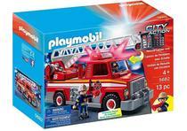 Playmobil - Caminhão De Bombeiro Com Escada 5682 -