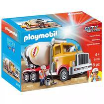 Playmobil City Action Caminhão Betoneira De Cimento - Sunny -