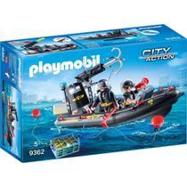 Playmobil City Action Unidade Tática Com Bote lança Dardo e Flutua 9362 Sunny -